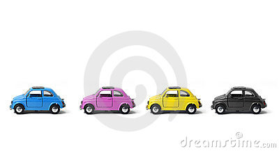 Toy Metal CMYK Cars