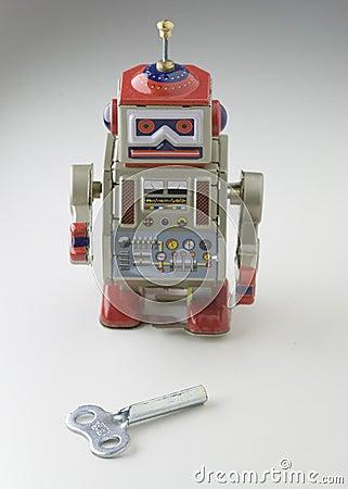 Free Toy Metal Robot Stock Image - 645251