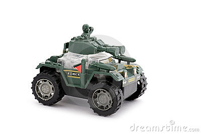 Toy military jeep