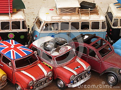 Toy models of cars and vans Editorial Stock Image