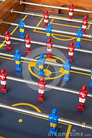 Free Toy Plastic Figures Of Football Players Royalty Free Stock Photo - 36500565