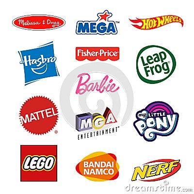 Free Toy Producers Company Logos Royalty Free Stock Photos - 106198458