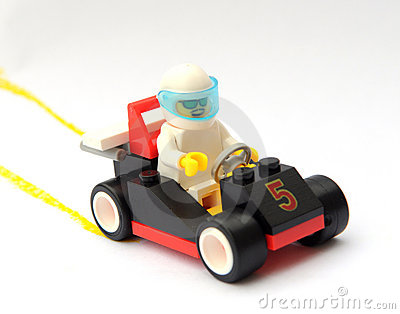 The toy race car