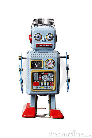 Free Toy Robot Isolated Royalty Free Stock Photos - 13788138