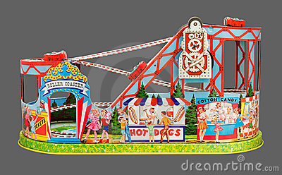 Toy Roller Coaster (with clipping path)
