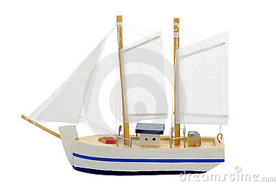 Toy sailing boat