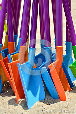 Toy shovel in various colors