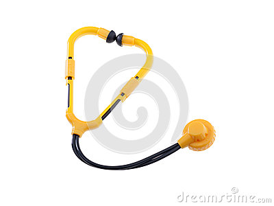 Toy Stethoscope Isolated