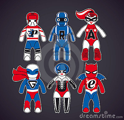 Toy superheroes
