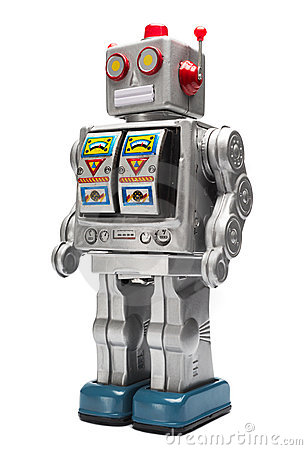 Free Toy Tin Robot Royalty Free Stock Images - 9448679