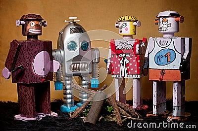 Toy Tin Robot Gathering 05