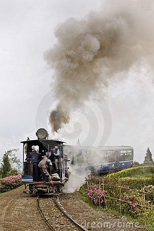 Toy Train in Darjeeling Editorial Photo