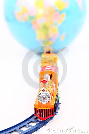 Toy Train and Globe