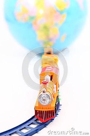 Toy Train and Globe
