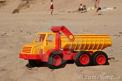 Toy Truck on the beach