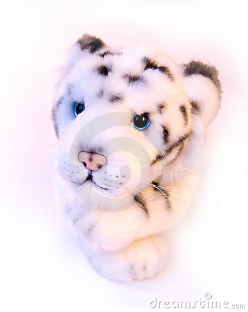 Toy white tiger