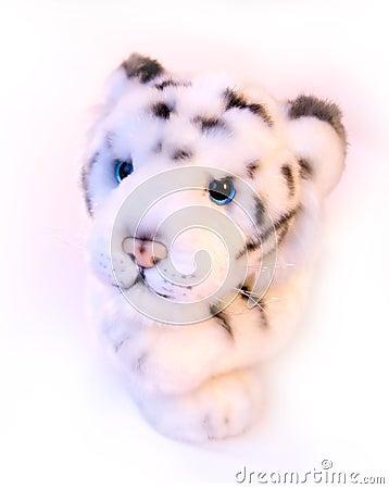 Toy white tiger