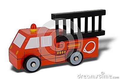 Toy wood firetruck