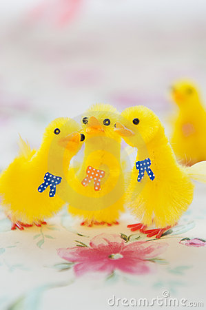Toy Yellow Chicks for Easter Decoration