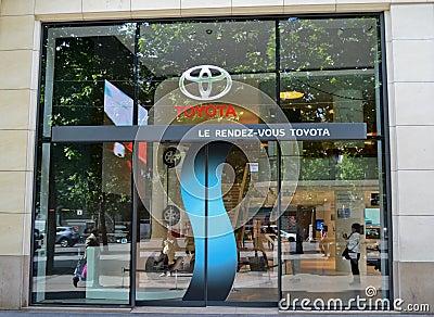 Toyota dealer, paris Editorial Stock Photo