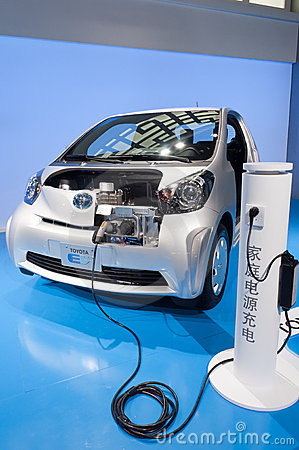 Free Toyota  Electric Car At Presenter Booth Stock Images - 22223204