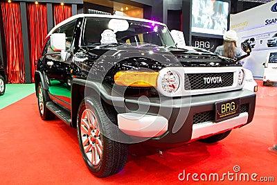 toyota fj cruiser 4x4 car on thailand international motor expo editorial photo image 35886401. Black Bedroom Furniture Sets. Home Design Ideas