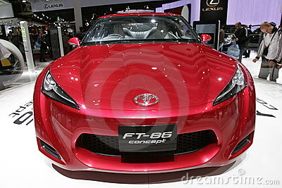 Toyota FT 86 concept car Editorial Photography