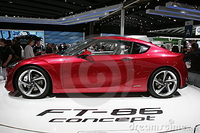 Toyota ft 86 concept car Editorial Image