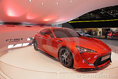 Toyota FT-86 II Concept Car Editorial Photography