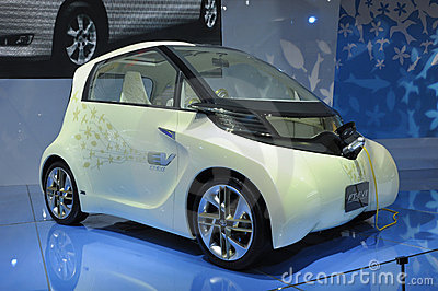 Toyota FT-EVII concept electric car Editorial Image