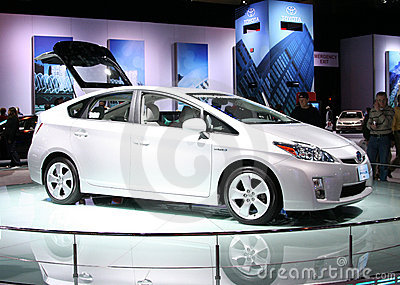Toyota PRIUS in the Autoshow Chicago 2009 Editorial Image