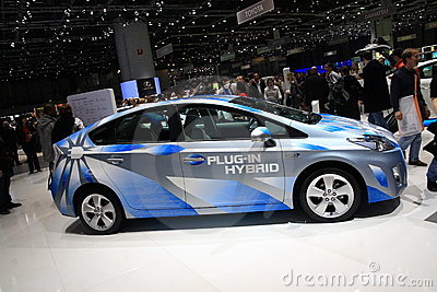 Toyota Prius Plug-in Hybrid Editorial Stock Image