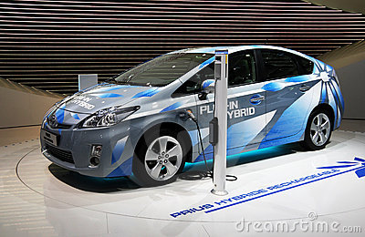 Toyota Prius Plug-in Hybrid at Paris Motor Show Editorial Image