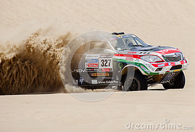 Toyota at the Rally Dakar 2013 Editorial Image