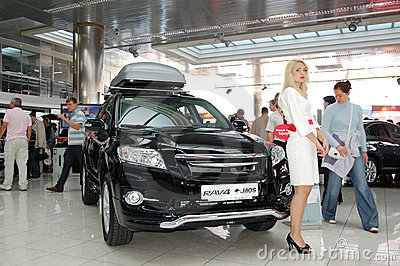 Toyota RAV4 at Yearly automotive-show Editorial Image