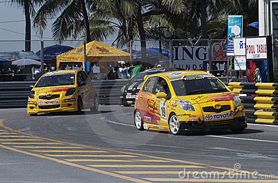 Toyota Yaris one make race Editorial Photo