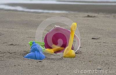 Toys on the beach