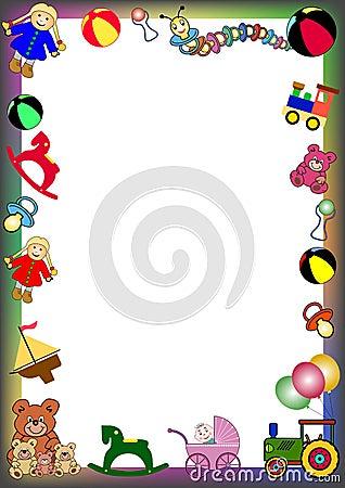 Free Toys Border Royalty Free Stock Photos - 4454678