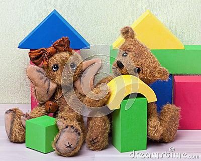 Toys: Elephant and Teddy