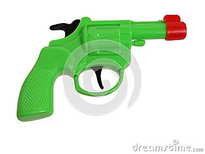 Toys: Green Plastic Gun