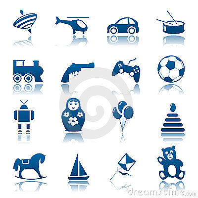 Free Toys Icon Set Stock Image - 18094191