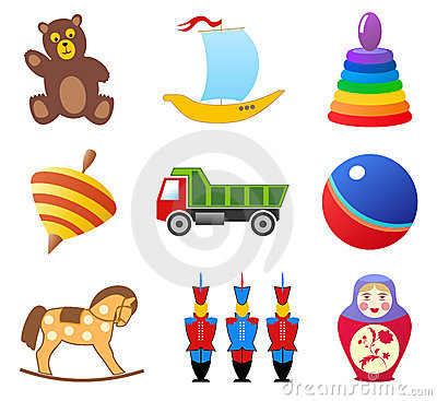 Free Toys Icons Royalty Free Stock Image - 4078876