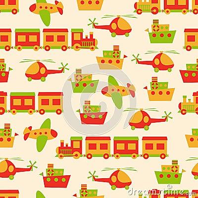 Toys pattern seamless