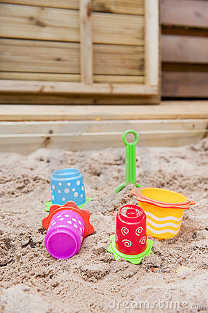 Toys in the sand box
