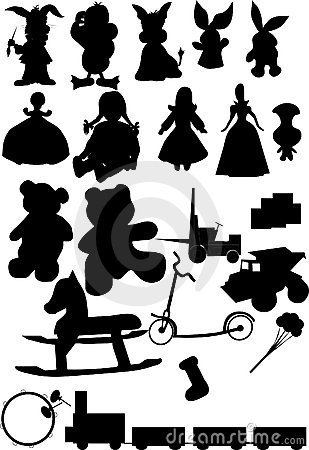 Toys silhouette vector
