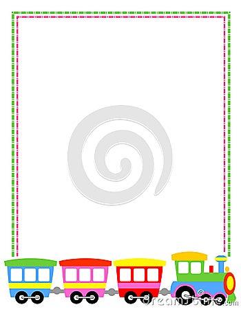 Toytrain Border Stock Image - Image: 24376021