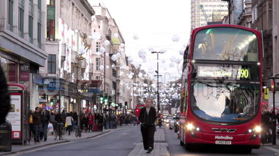 Tráfico de Londres almacen de metraje de vídeo