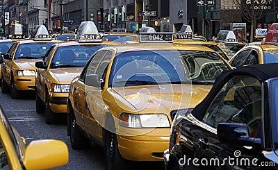 Tráfico de Nueva York Imagen de archivo editorial