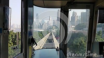 Trânsito do trilho de Chongqing vídeos de arquivo