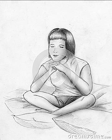 Träume oder Meditation - Skizze